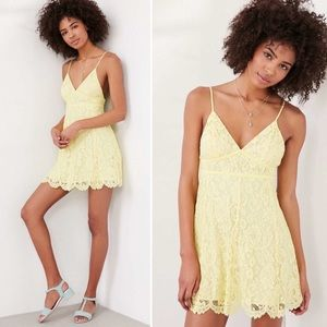 Urban Outfitters yellow lace sundress 🌼